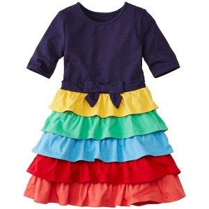 Girls Skater Dress With Ruffle Skirt | Girls Dresses