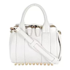 MINI ROCKIE IN PEROXIDE WITH PALE GOLD - WHITE by Alexander Wang