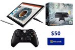 As low as $878 Microsoft Surface Pro 4 + 1TB Xbox One + Controller + $50 GC