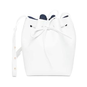 Mansur Gavriel WHITE/BLUE MINI BUCKET BAG