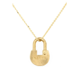 The Giving Keys 'Dainty XL - Inspire' 36-Inch Lock Pendant Necklace