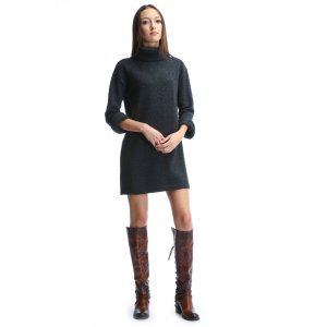 Sanctuary Marled Knit Mock Neck Sweater Dress | South Moon Under