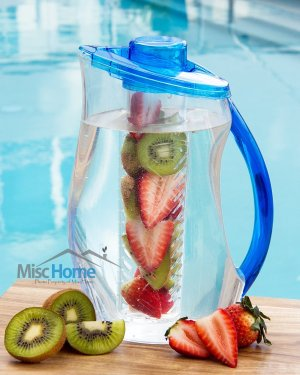 3.2 Qt Fruit Infuser Water Pitcher 101 Oz BPA Free