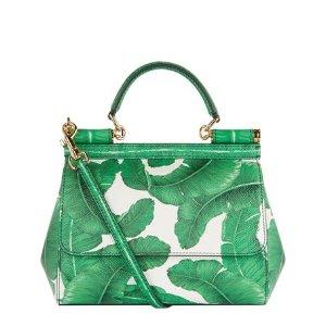 Dolce & Gabbana Mini Sicily Leaf Print Top Handle Bag | Harrods