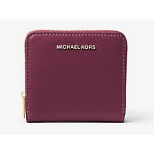 MICHAEL MICHAEL KORS Jet Set Travel Patent Leather Card Holder