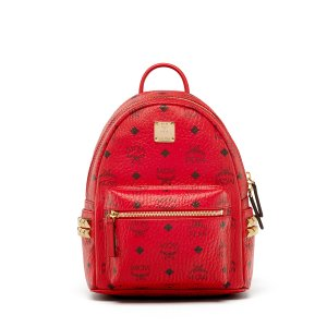 Mini Stark Backpack in Ruby Red by MCM