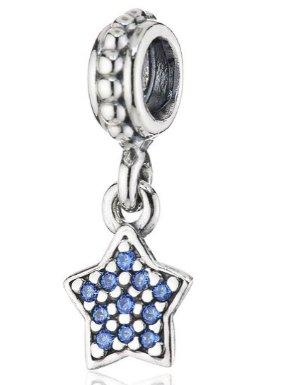 $30.67Pandora 潘多拉 Charm 925纯银蓝色锆石镶星吊坠