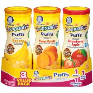$6.79 Gerber Graduates Puffs, Apple, Banana & Sweet Potato
