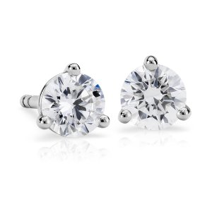Diamond Stud Earrings in 18k White Gold