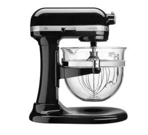 $249(原价$408.99)KitchenAid 黑色 6夸脱Pro 600厨房立式搅拌机