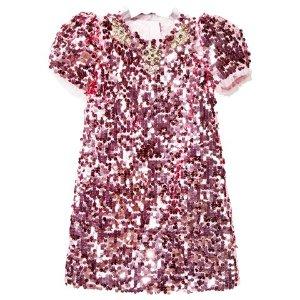 Dolce & Gabbana Pink Sequin Dress