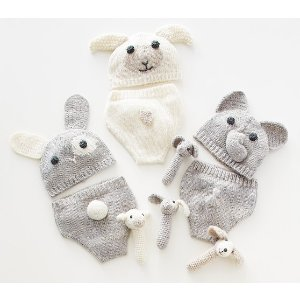 Nursery Knit Hat and Diaper Covers | Pottery Barn Kids