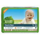 Prime Member Only! Seventh Generation Baby Diapers, Free and Clear for Sensitive Skin, Original Unprinted, Size 2, 180 Count