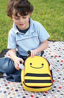 Skip Hop Baby Zoo Little Kid and Toddler Insulated and Water-Resistant Lunch Bag, Multi Brooklyn Bee