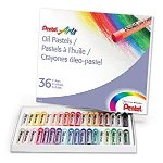 PENTEL PHN36 Oil Pastel Set With Carrying Case