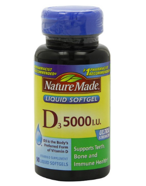 $5.9 Nature Made Vitamin D-3, 5000IU, 90 Softgels