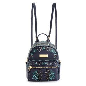 SOLSTICE EMBROIDERY LEATHER MINI BACKPACK - Juicy Couture