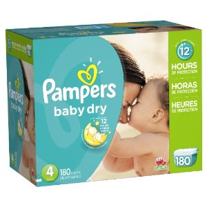 Amazon.com: Pampers Baby Dry Diapers Economy Pack Plus, Size 4, 180 Count: Health & Personal Care