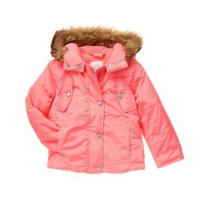 Girls Coral Hooded Jacket by Gymboree