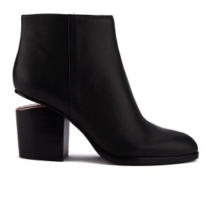Alexander Wang Women's Gabi Leather Heeled Ankle Boots - Black/Rose Gold - Free UK Delivery over £50