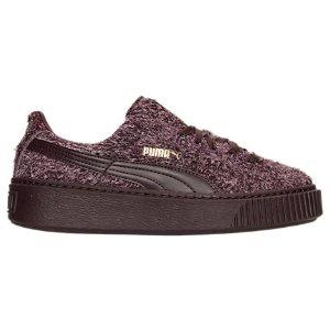 Women's Puma Suede Platform Elemental Casual Shoes