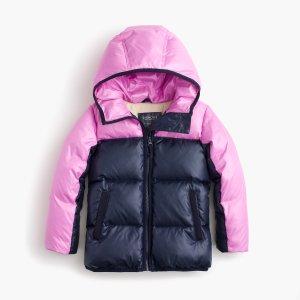 Girls' Colorblock Marshmallow Puffer Jacket In Neon : Girls' Jackets & Coats