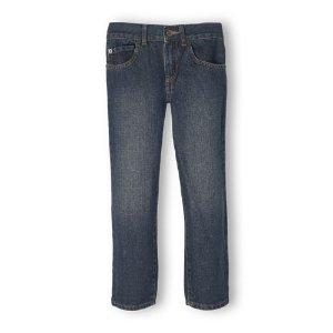Boys Basic Straight Jeans - Dry Indigo Wash   The Children's Place