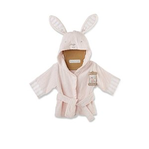 Amazon.com: Baby Aspen Baby's Bath Time Bunny Hooded Spa Robe, Pink, 0-9 Months: Baby