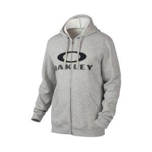 Oakley Ellipse Nest Fleece Full-Zip Hoodie in GRANITE HEATHER | Oakley