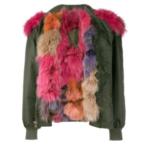 Mr & Mrs Italy Raccoon Fur-Trimmed Bomber Jacket | Kirna Zabête