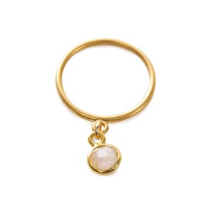 Love Gems Rose Quartz Ring, Gold Dipped | Dogeared