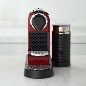$136.98 With ShippingNespresso Citiz Espresso Maker with Aeroccino 3 Automatic Milk Frother, Red
