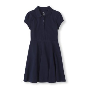Girls Uniform Short Sleeve Polo Dress   The Children's Place