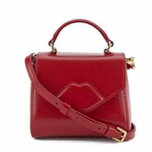 Lulu Guinness Women's Izzy Mini Lip Crossbody - Red