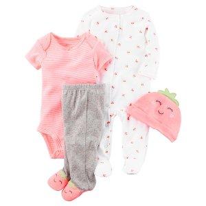 Baby Girl 4-Piece Neon Take-Me-Home Set   Carters.com