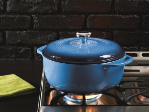 $53.99 Lodge EC6D68 Enameled Cast Iron Dutch Oven, 6 quart