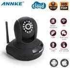 $55.99 ANNKE SP1 HD 720P Baby Monitor,Cloud Network/Wireless IP Camera-Black