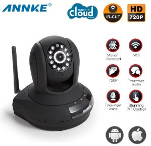 ANNKE SP1 HD 720P Baby Monitor,Cloud Network/Wireless IP Camera-Black