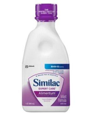 $9.99+满额送$20礼卡Similac® Expert Care Alimentum 即开即用深度水解低敏配方奶
