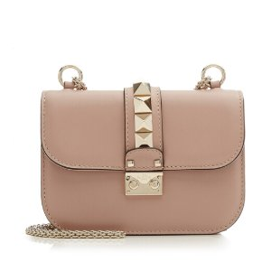 Leather Small Lock Shoulder Bag from VALENTINO
