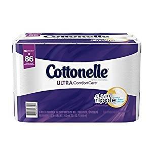 $12.53 Cottonelle Ultra ComfortCare Toilet Paper, Bath Tissue, 36 Family Rolls