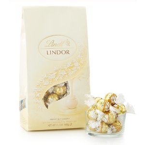 White LINDOR Truffles 75-pc Bag