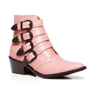 TOGA PULLA Leather Western Ankle Boot