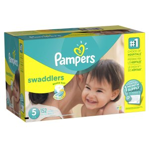 Pampers Swaddlers Diapers, Size 5, One Month Supply, 152 Count