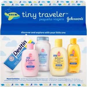 $3.86 Johnson's tiny traveler baby gift set, 5 Items