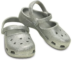 Two Pairs for $26.98 + Free ShippingGirls' Crocs Karin Sparkle Clog