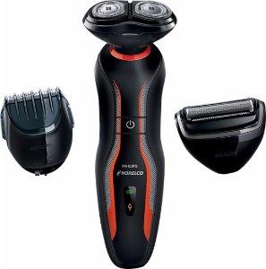Philips Norelco - Click & Style Electric Shaver - Black/Orange