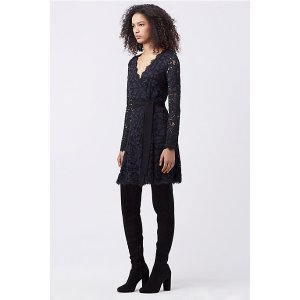 DVF SHAELYN LACE WRAP DRESS   Landing Pages by DVF