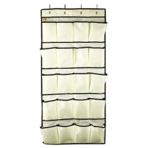 Lightning deal! $8.49 LAGUTE 20 Big Pockets for Men Shoe Oxford Fabric Over-the-Door Shoe Organizer * Beige *
