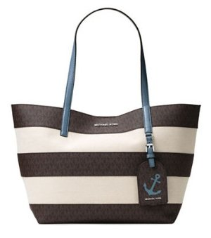 MICHAEL Michael Kors Two-Tone Canvas Tote @ Lord & Taylor